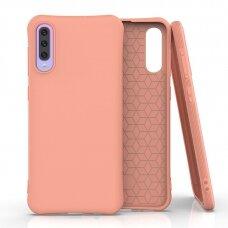 Silikoninis dėklas Soft Color Samsung Galaxy A70 Oranžinis