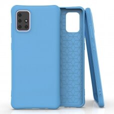 Soft Color Case Lankstus, Gelinis Dėklas-Nugarėlė Samsung Galaxy A71 Mėlyna