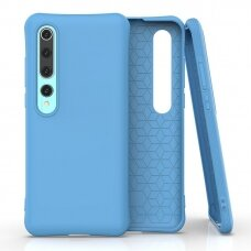 Silikoninis dėklas Soft Color Xiaomi Mi 10 Pro / Xiaomi Mi 10 Mėlynas