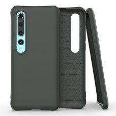 Soft Color Case Lankstus Gelinis Dėklas Xiaomi Mi 10 Pro / Xiaomi Mi 10 Tamsiai Žalias