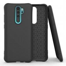 Soft Color Case Lankstus Gelinis Dėklas Xiaomi Redmi Note 8 Pro Juodas