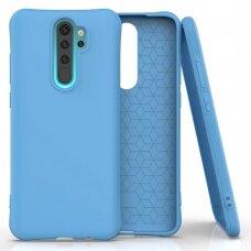Soft Color Case Lankstus Gelinis Dėklas Xiaomi Redmi Note 8 Pro Mėlynas