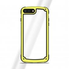 """Plastikinis Dėklas Tpu Kraštais """"Solid Frame"""" Huawei Mate 20 Lite Geltonas"""