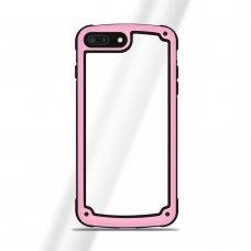 """Plastikinis Dėklas Tpu Kraštais """"Solid Frame"""" Samsung Galaxy S9 G960 Rožinis"""