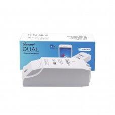 Sonoff DUAL R2 dviejų kanalų Wi-Fi Išmanusis Jungiklis Baltas (IM160811001)