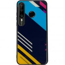 Spalvotas Apsauginis Dėklas Color Glass Huawei P30 Lite Pattern 2