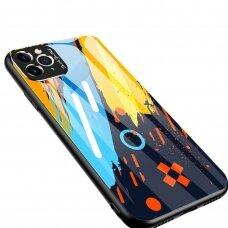 Spalvotas Apsauginis Dėklas Color Glass Iphone 11 Pro Max Pattern 1