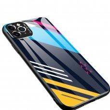 Spalvotas Apsauginis Dėklas Color Glass Iphone 11 Pro Max Pattern 2