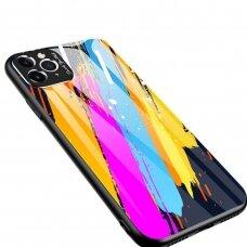 Spalvotas Apsauginis Dėklas Color Glass Iphone 11 Pro Max Pattern 3