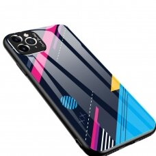 Spalvotas Apsauginis Dėklas Color Glass Iphone 11 Pro Max Pattern 4