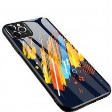 Spalvotas Apsauginis Dėklas Color Glass Iphone 11 Pro Max Pattern 5