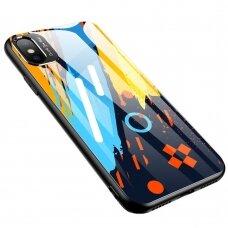 Spalvotas Apsauginis Dėklas Color Glass Iphone Xr Pattern 1