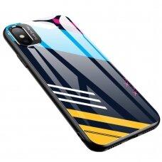 Spalvotas Apsauginis Dėklas Color Glass Iphone Xr Pattern 2