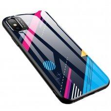 Spalvotas Apsauginis Dėklas Color Glass Iphone Xr Pattern 4
