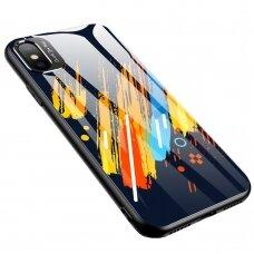 Spalvotas Apsauginis Dėklas Color Glass Iphone Xr Pattern 5