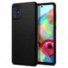 Aukštos kokybės Dėklas Spigen Liquid Air Galaxy A51 Matte juodas (lop20)