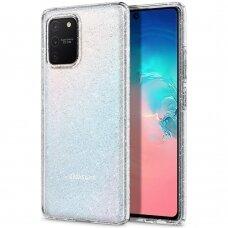 AUKŠTOS KOKYBĖS DĖKLAS Spigen Liquid Crystal Galaxy S10 Lite Su blizgučiais (ctz004)