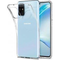 Aukštos kokybės Dėklas Spigen Liquid Crystal Galaxy S20+ Plus Crystal Clear (nqt31)
