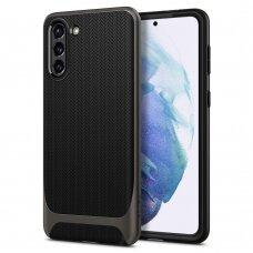 Aukštos kokybės dėklas Spigen Neo Hybrid Galaxy S21+ Plus Gunmetal