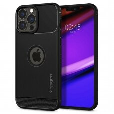 Dėklas Spigen Rugged Armor iPhone 13 Pro Max juodas