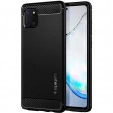 Aukštos kokybės Dėklas Spigen Rugged Armor Galaxy Note 10 Lite Matte juodas (atm58)