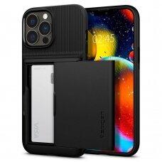 Dėklas Spigen Slim Armor CS iPhone 13 Pro juodas