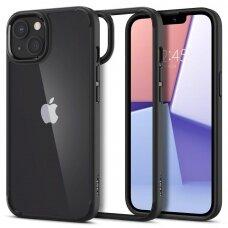 Aukštos kokybės dėklas Spigen Ultra Hybrid iPhone 13 Juodas