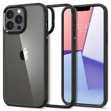 Aykštos kokybės dėklas Spigen Ultra Hybrid iPhone 13 Pro Juodas
