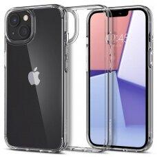 Aukštos kokybės dėklas Spigen Ultra Hybrid iPhone 13 Permatomas