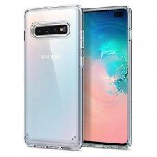 Aukštos Kokybės Dėklas Spigen Ultra Hybrid Galaxy S10+ Plus Crystal Clear