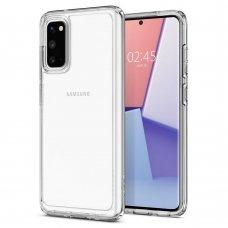 Aukštos kokybės Dėklas Spigen Ultra Hybrid Galaxy S20 Crystal Clear (lqn04)