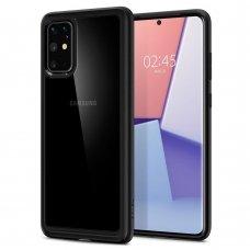 Aukštos kokybės Dėklas Spigen Ultra Hybrid Galaxy S20+ Plus Matte juodas (nqt31)