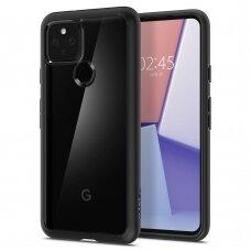 Aukštos kokybės dėklas Spigen Ultra Hybrid Google Pixel 5 Matte juodais kraštais