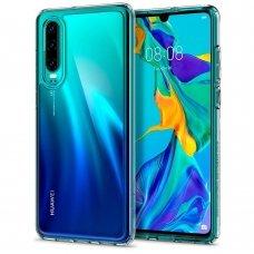 Aukštos Kokybės Dėklas Spigen Ultra Hybrid Huawei P30 Crystal Skaidrus