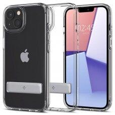 Dėklas Spigen Ultra Hybrid S iPhone 13 kickstand Permatomas