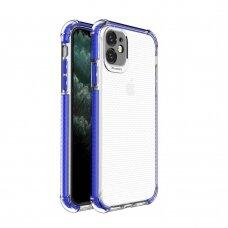 Dėklas Sutvirtintais Kampais Spring Armor clear TPU iPhone 11 Mėlynais Kraštais