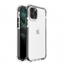 Dėklas Sutvirtintais Kampais Spring Armor clear TPU iPhone 11 Pro Juodais Kraštais