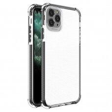 Dėklas Sutvirtintais Kampais Spring Armor clear TPU iPhone 11 Pro Max Juodais Kraštais