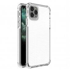 Dėklas Sutvirtintais Kampais Spring Armor clear TPU iPhone 11 Pro Max Baltais Kraštais