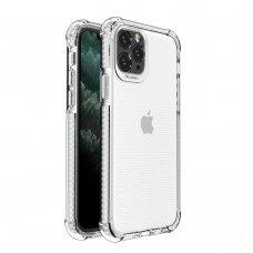 Dėklas Sutvirtintais Kampais Spring Armor clear TPU iPhone 11 Pro Baltais Kraštais