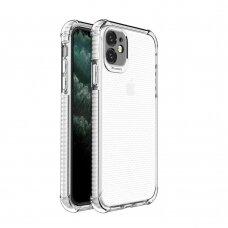 Dėklas Sutvirtintais Kampais Spring Armor clear TPU iPhone 11 Baltais Kraštais