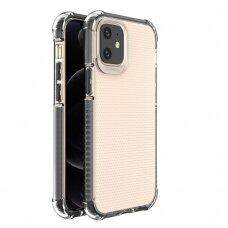 Dėklas Sutvirtintais Kampais Spring Armor clear TPU iPhone 12 mini Juodais Kraštais