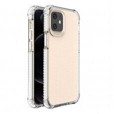 Dėklas Sutvirtintais Kampais Spring Armor clear TPU iPhone 12 mini Baltais Kraštais