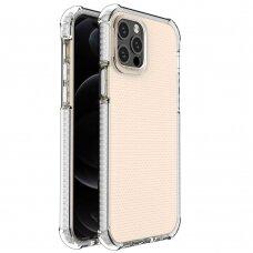 Dėklas Sutvirtintais Kampais Spring Armor clear TPU iPhone 12 Pro / iPhone 12 Baltais Kraštais
