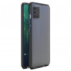 Spring Case Skaidrus Tpu Dėklas Su Spalvotu Rėmu Samsung Galaxy A21S Juodas