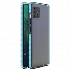 Spring Case Skaidrus Tpu Dėklas Su Spalvotu Rėmu Samsung Galaxy A21S Žydras