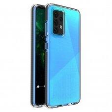 Dėklas Spring Case clear TPU su spalvotu kraštu Samsung Galaxy A52/ A52s Juodas