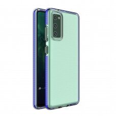 Skaidrus TPU dėklas su spalvotu rėmu Spring Case Samsung Galaxy S20 FE 5G mėlynas