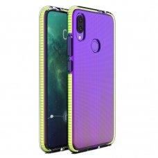 """""""SPRING CASE"""" SKAIDRUS TPU DĖKLAS SU SPALVOTU RĖMU Huawei P Smart 2019 geltonas (ctz012) UCS089"""