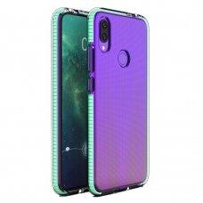 """""""SPRING CASE"""" SKAIDRUS TPU DĖKLAS SU SPALVOTU RĖMU Huawei P Smart 2019 mėtinis (ctz012) UCS089"""